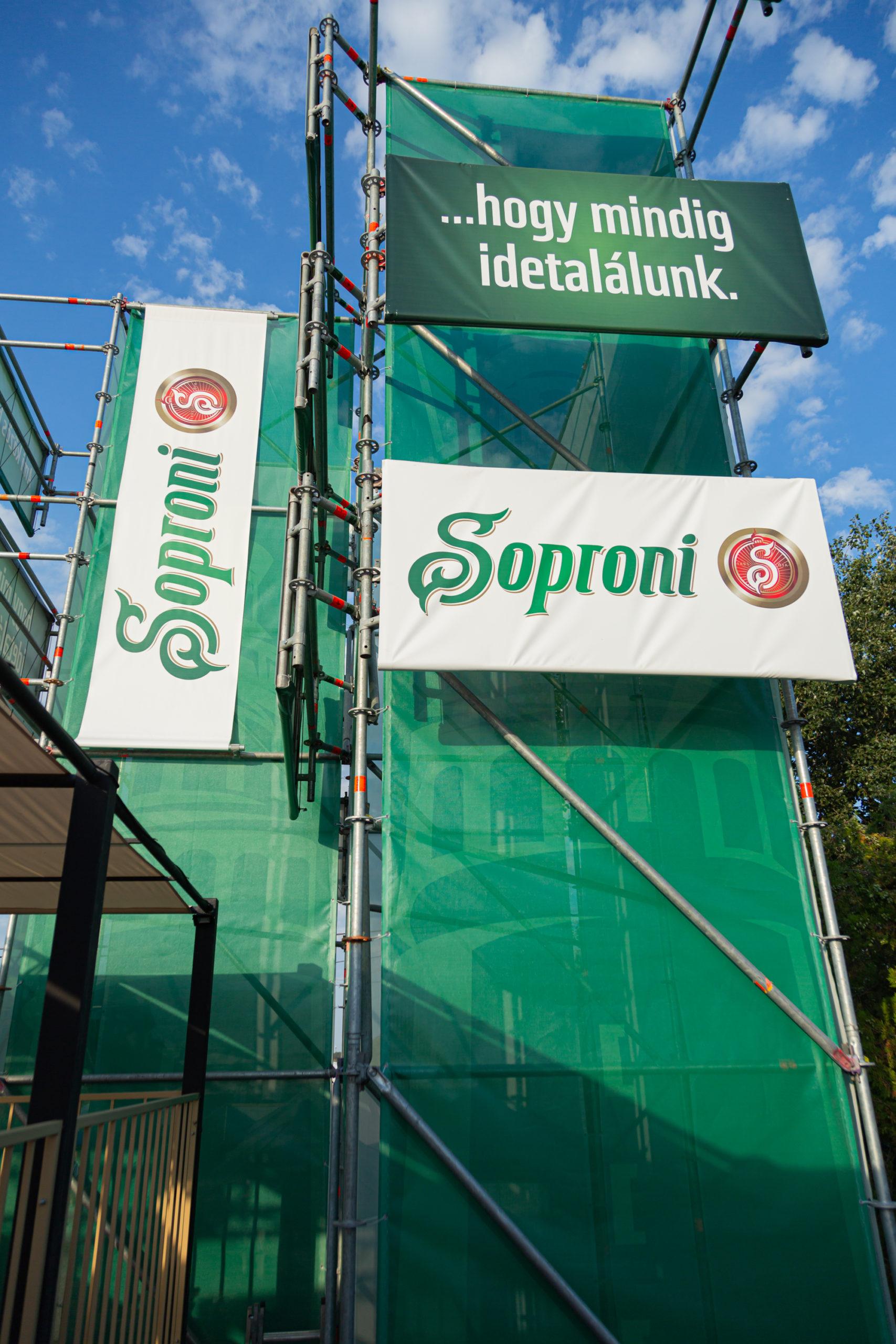 Soproni fesztivál installáció és kommunikáció